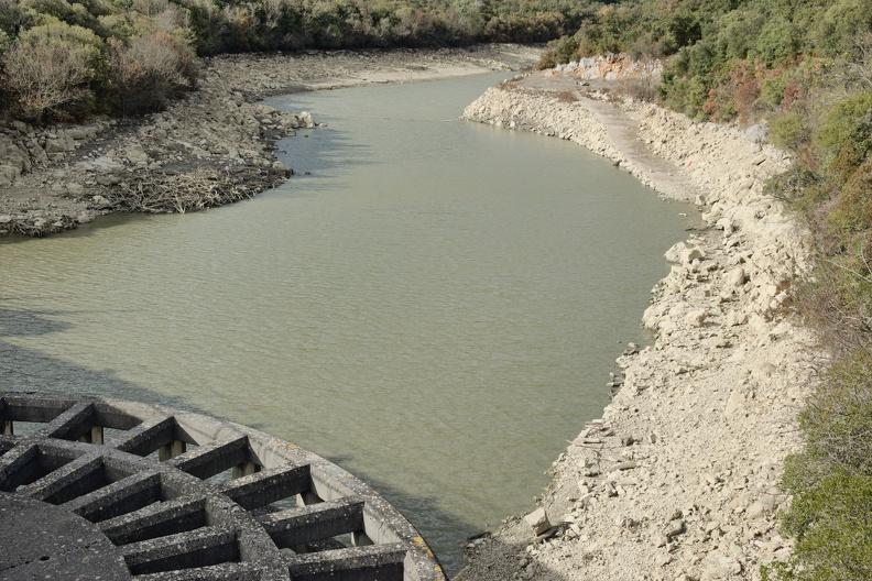 Le Crieulon depuis le barrage de la Rouvière
