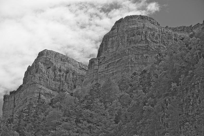 Vallée d'Ordesa (N/B)