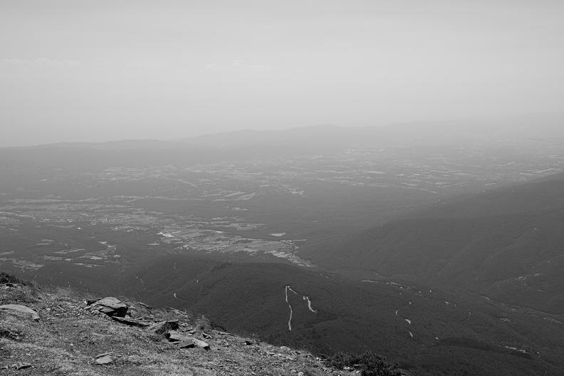 Depuis le Mont de l'Homme (N/B)