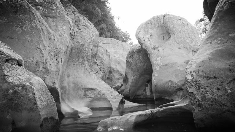 Érosion - Les gorges du Crespenou