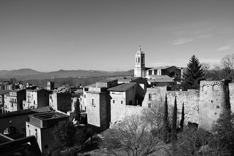 Gérone et sa cathédrale (monochrome)
