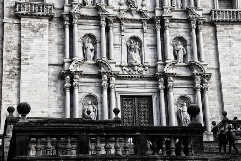 Cathédrale Sainte-Marie à Gérone (monochrome)