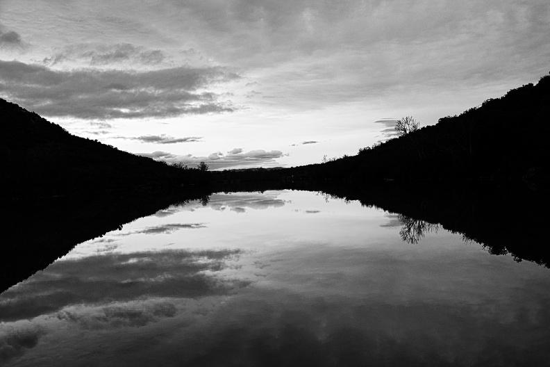 Retenue du barrage de la Rouvière