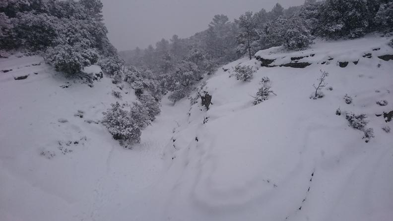 neige en février 2018