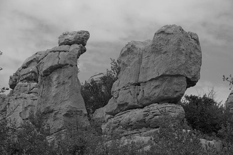 Mer des rochers ( N/B version )