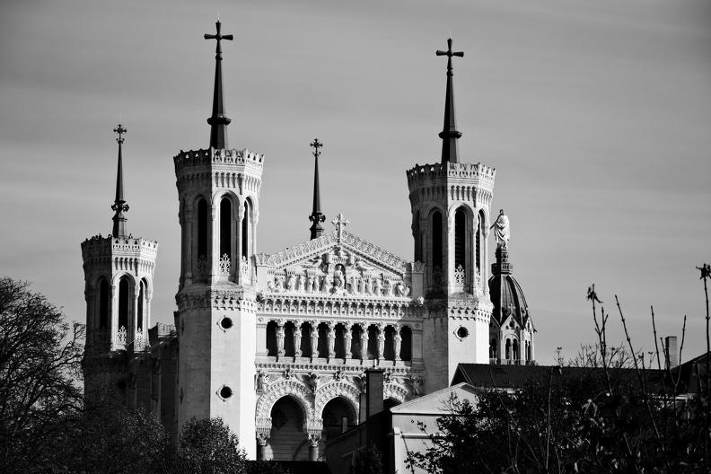Basilique Notre-Dame de Fourvière (N/B)