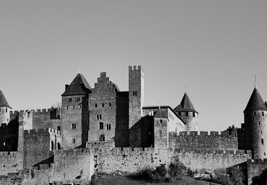 Un 1er janvier à Carcassonne (N/B version)