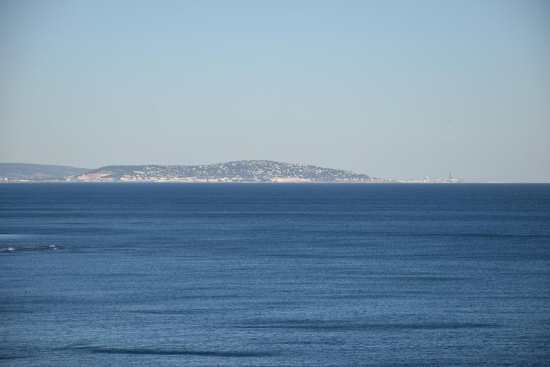 Sète depuis le Cap d'Agde