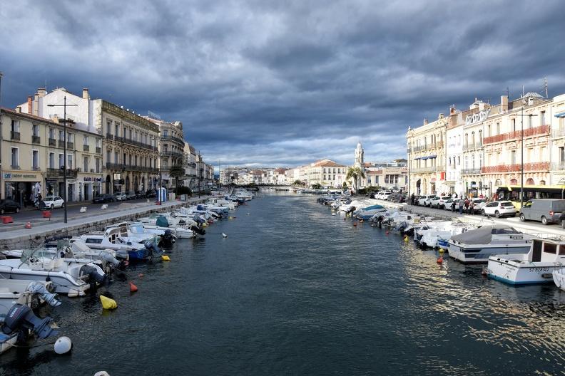 Canal de Sète en fin de journée