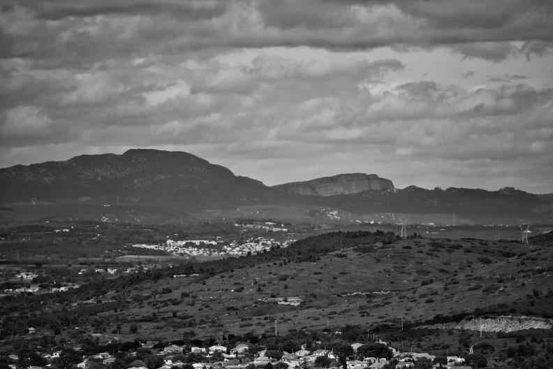 Pic Saint Loup et Hortus depuis Sète