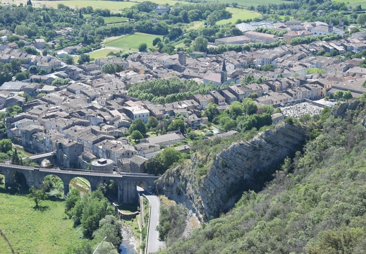 Saint-Hippolyte-du-Fort depuis le Cengle
