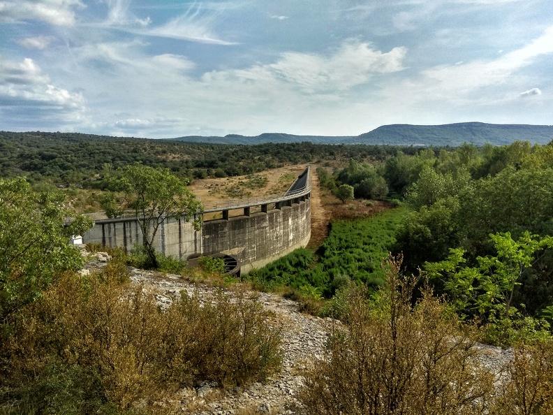 Barrage de Ceyrac en période de sécheresse