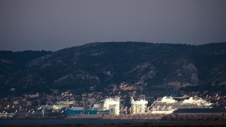 Port de Marseille de nuit