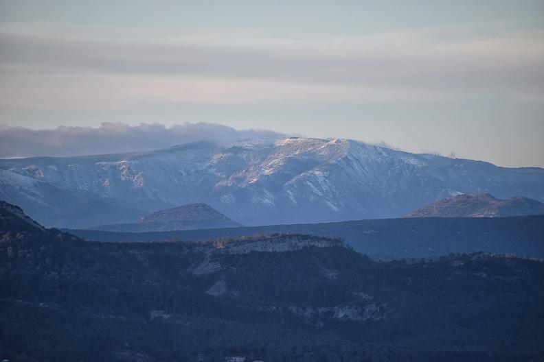 Sous la neige le Mont-Aigoual