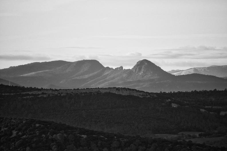 Le Pic d'Anjeau (monochrome)