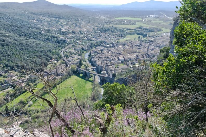 Saint-Hippo depuis les falaises du Cengle